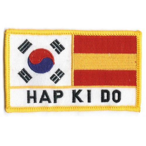 Escudo bandera Coreana-Española con Hapkido