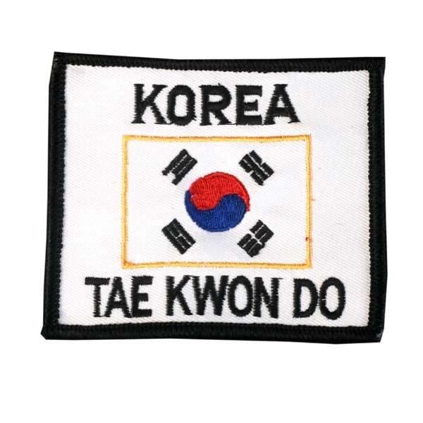 Escudo bandera coreana, con Korea y TKD