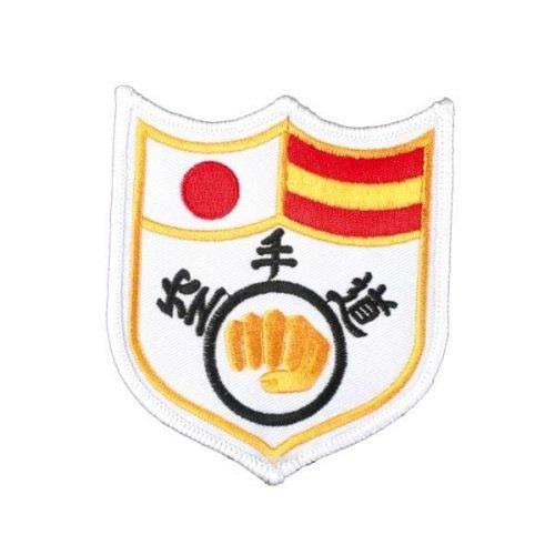 Escudo banderín Karate blanco