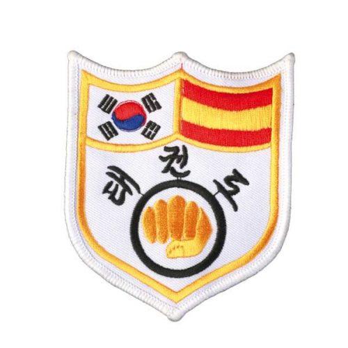 Escudo banderín TKD blanco