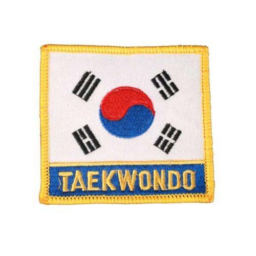Escudo bandera coreana con TKD