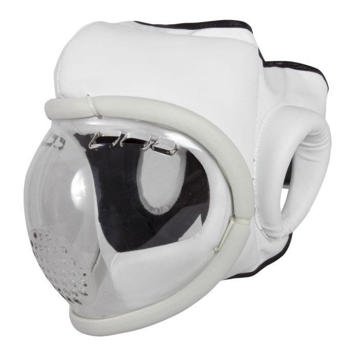Casco Máscara Transparente